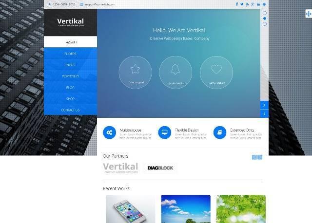 Vertikal Multipurpose Joomla Template