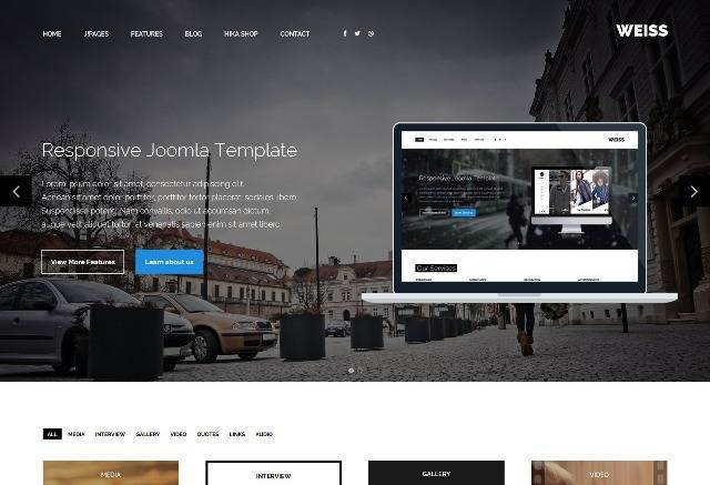 Weiss Multipurpose Joomla Template