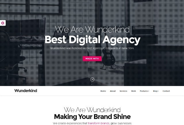Wunderkind One Page Parallax Joomla Template
