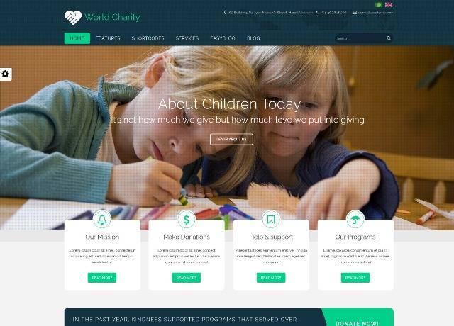 ZT Charity responsive joomla template