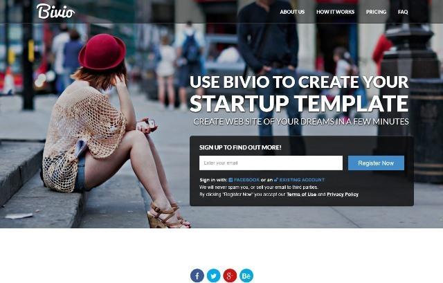 Bivio Startup Responsive HTML5 Template