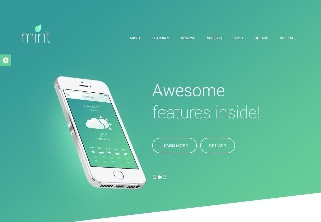 Delicious Responsive App Landing HTML Theme