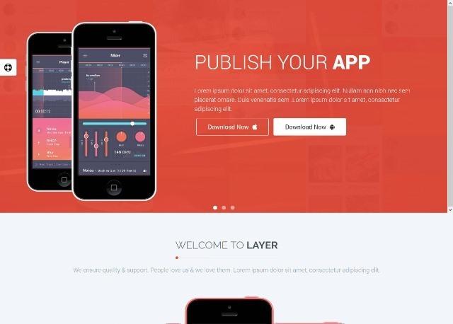 Layer Responsive App Landing Page