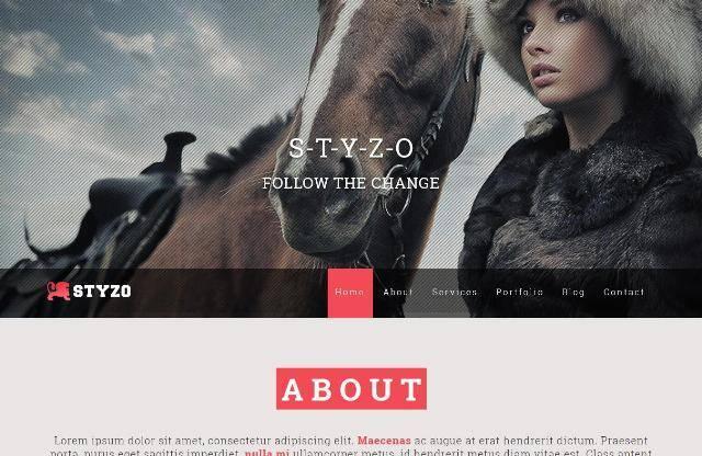 STYZO Responsive One Page MODX Theme
