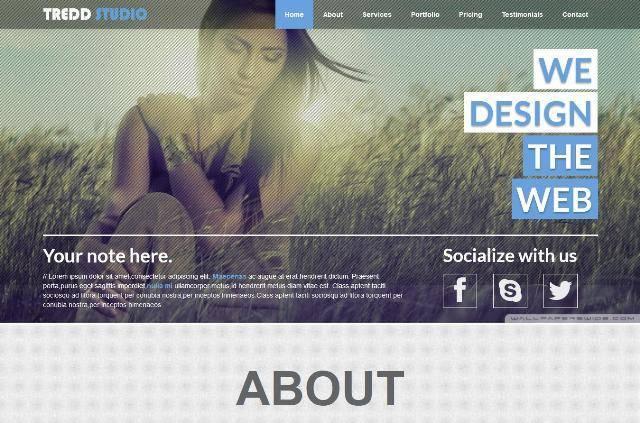 Tredd Studio Responsive One Page MODX Theme