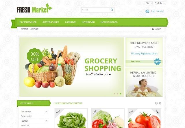 Fresh Market Prestashop Responsive Theme