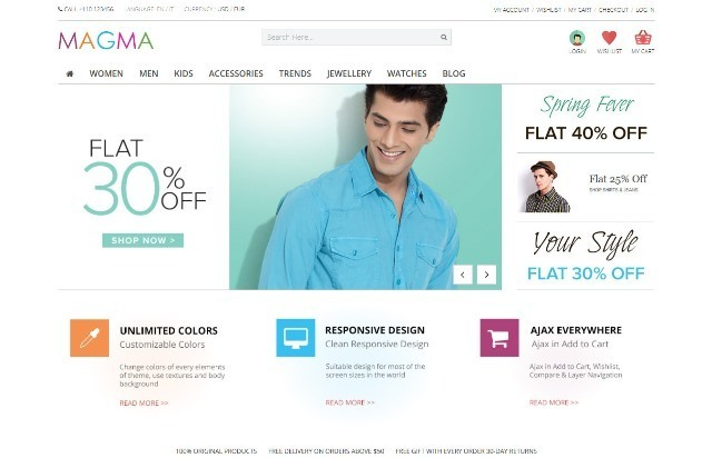 MAGMA Fashion Responsive PrestaShop Template