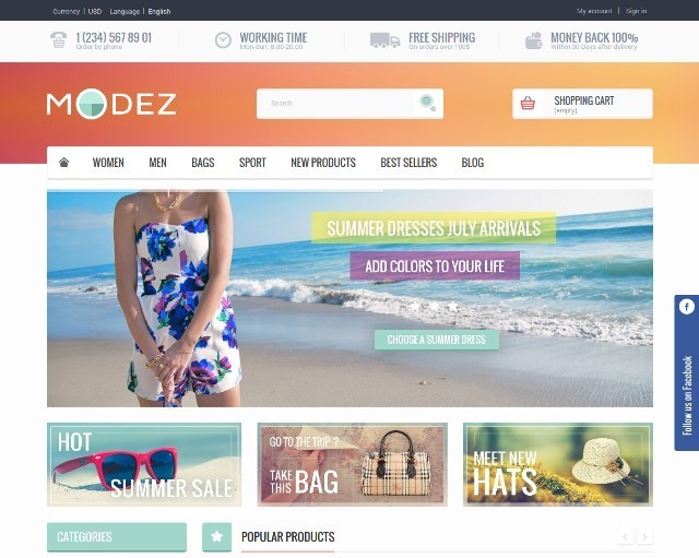 MODEZ Responsive Prestashop 1.6 Theme