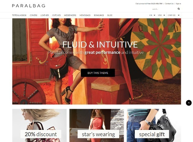 Parallax Prestashop Fashion Bag Store