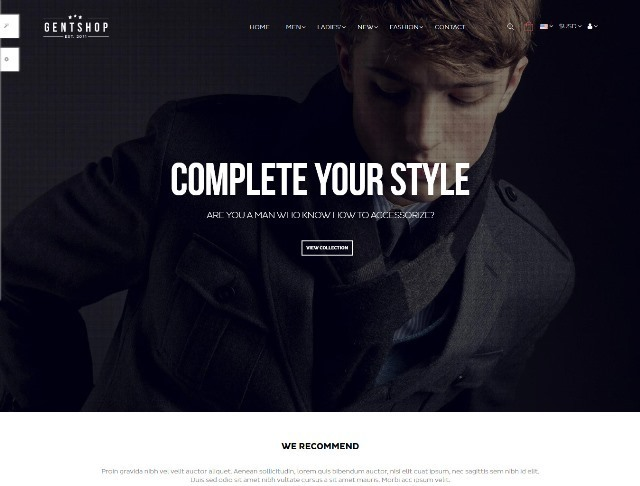 Pts GentShop Fashion Prestashop Theme