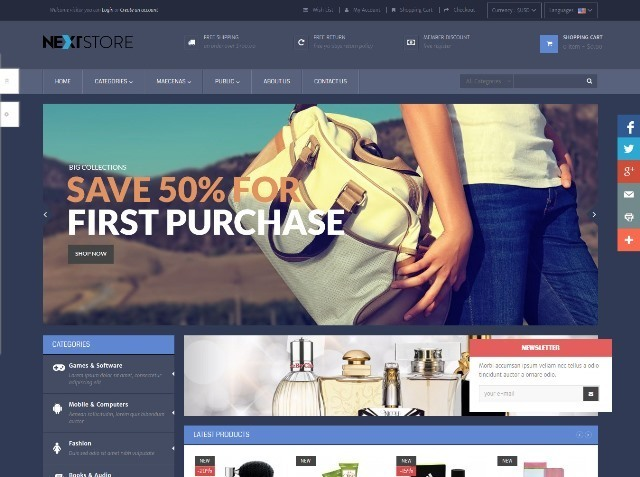 Pts NextStore Prestashop Theme