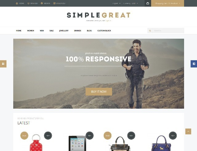 SimpleGreat Responsive Prestashop 1.6 Theme