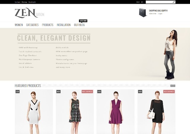 ZENsation Responsive Prestashop 1.6 Theme