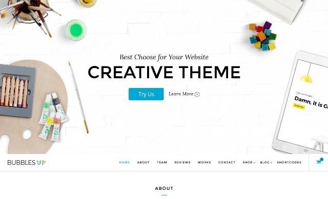 BubblesUP - Multi-Purpose One Page WordPress Theme