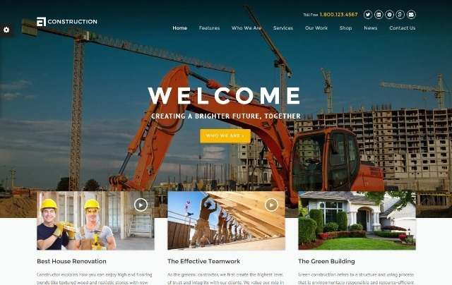 Construction - WordPress Construction Theme