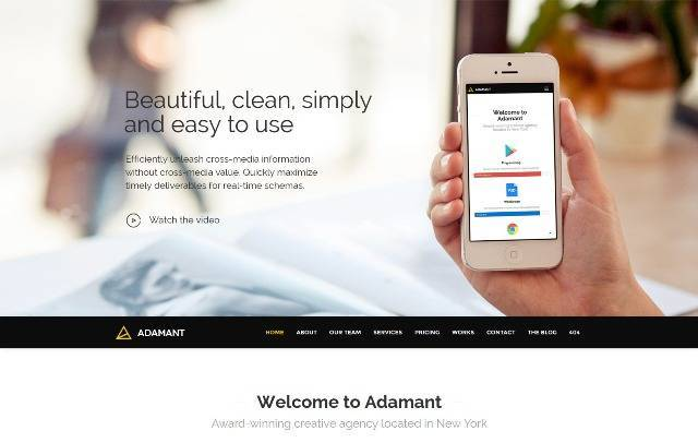 Adamant Parallax One-Page WordPress Theme