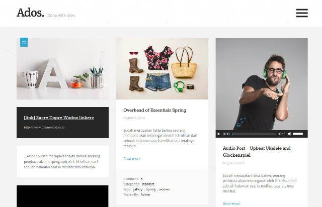 Ados Clean, Responsive Blog WordPress Theme