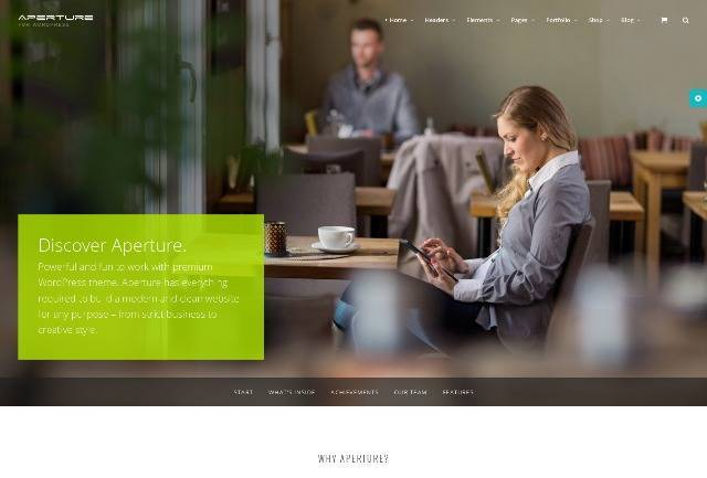 Aperture Full Featured WordPress Theme