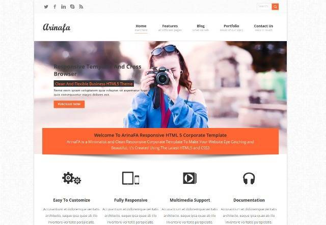 ArinaFA Corporate WordPress Theme