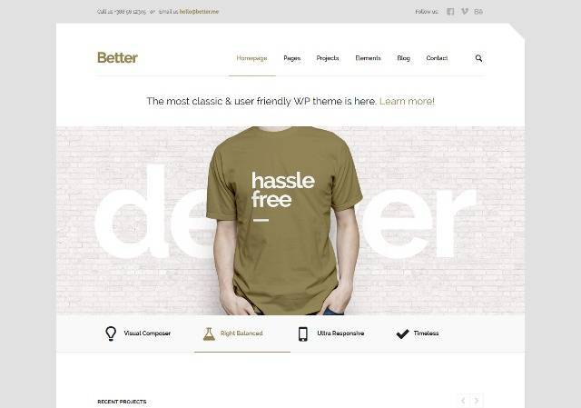 Better Minimalistic Business WordPress Theme
