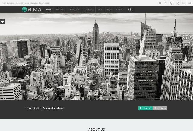Bima premium Responsive Multi-Purpose WordPress