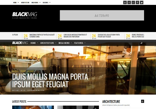 BLACKMAG Bold & Clean Magazine Theme