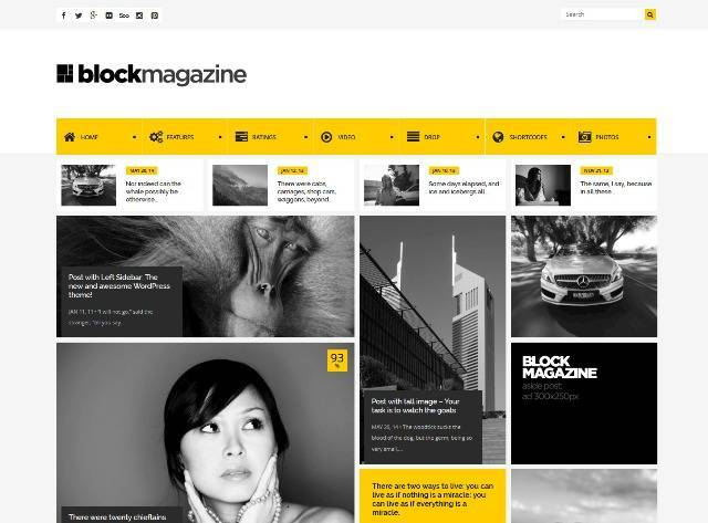 Block Magazine Flat and Minimalist Blog Theme