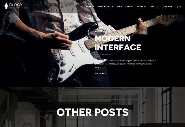 Blogy Modern Personal WordPress Blog Theme