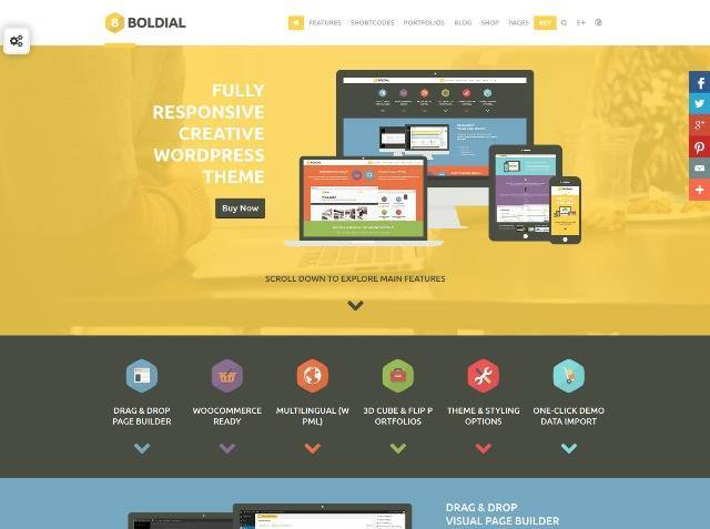 Boldial WP Flat Creative Theme with 3D Portfolio