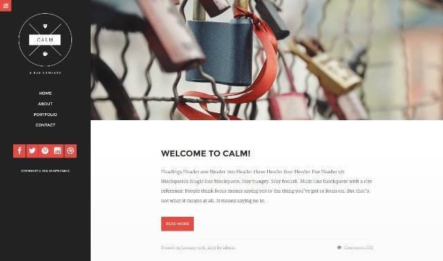 Calm Responsive WordPress Blog & Portfolio Theme