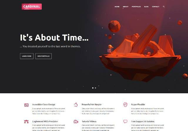 Cardinal Responsive WordPress Theme