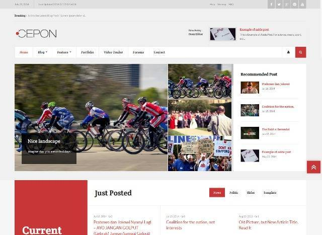 Cepon News and Magazine WordPress Theme