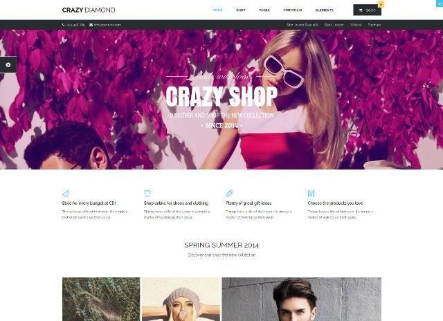 Crazy Diamond Ecommerce & Corporate Theme
