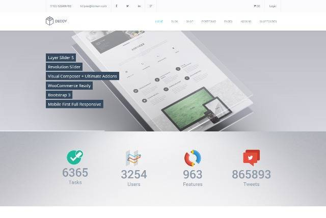 Decoy Responsive Multi-Purpose WordPress Theme