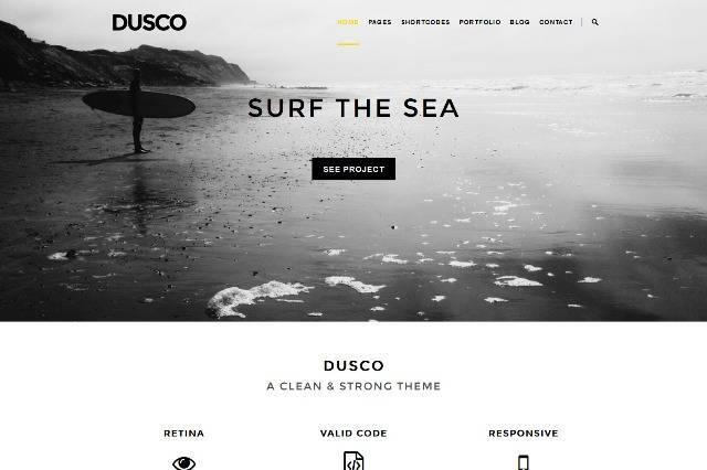 Dusco Simple Creative WordPress Theme