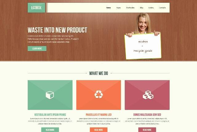 Ecobox Responsive WordPress Theme