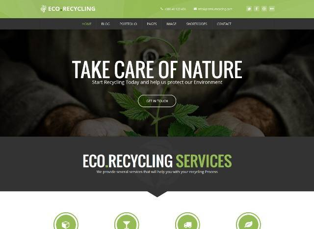 EcoRecycling a Multipurpose WordPress Theme