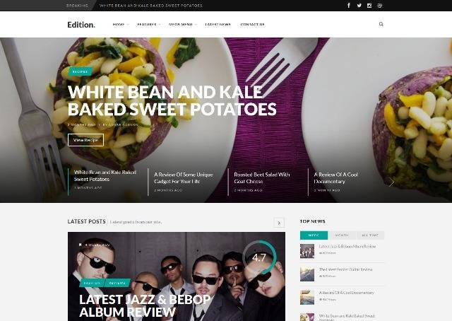 Edition Responsive News and Magazine Theme