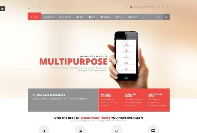 Erika Responsive Multipurpose WordPress Theme