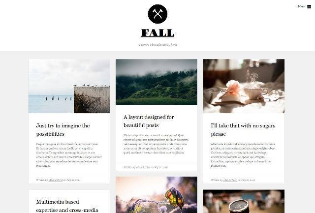 Fall Premium WordPress Blogging Theme