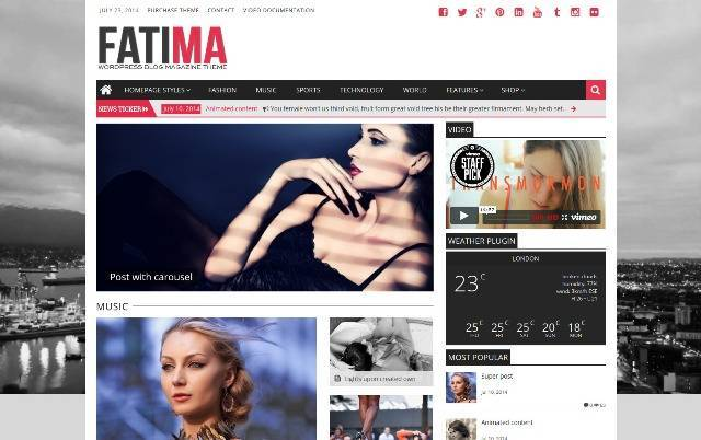 Fatima responsive wordpress theme