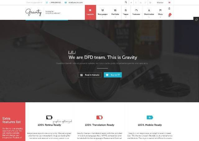 Gravity Multi-Purpose Creative WordPress Theme