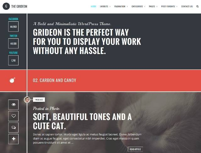 Grideon Responsive Creative WordPress Theme