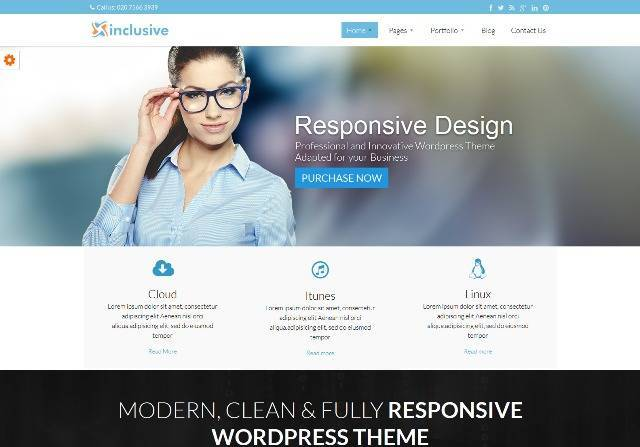Inclusive Responsive Multi-Purpose WordPress Theme