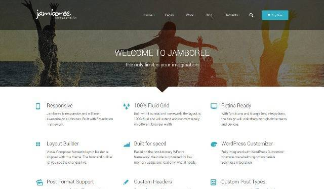 Jamboree Multipurpose Front End Editor WordPress Theme