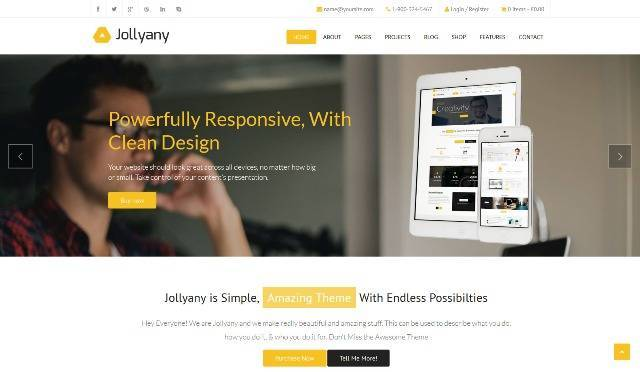 Jollyany Corporate Multi Purpose WordPress Theme