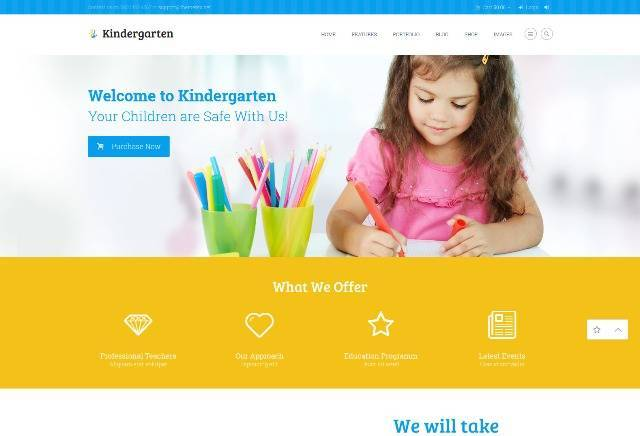 Kindergarten Children WordPress Theme