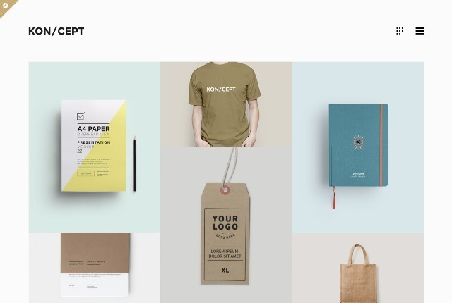 KON/CEPT A Portfolio Theme for Creative People
