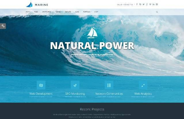 Marine Retina Responsive Multi-Purpose Theme