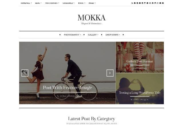 Mokka Minimal & Elegant WordPress Blog